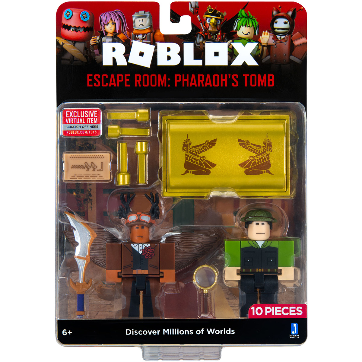 Set 2 figurine Roblox, Escape Room Pharaoh's Tomb, S8