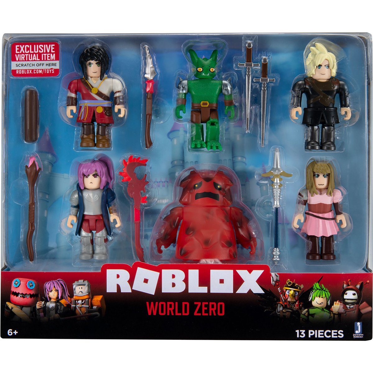 Set 6 figurine clasice Roblox, World Zero, S8