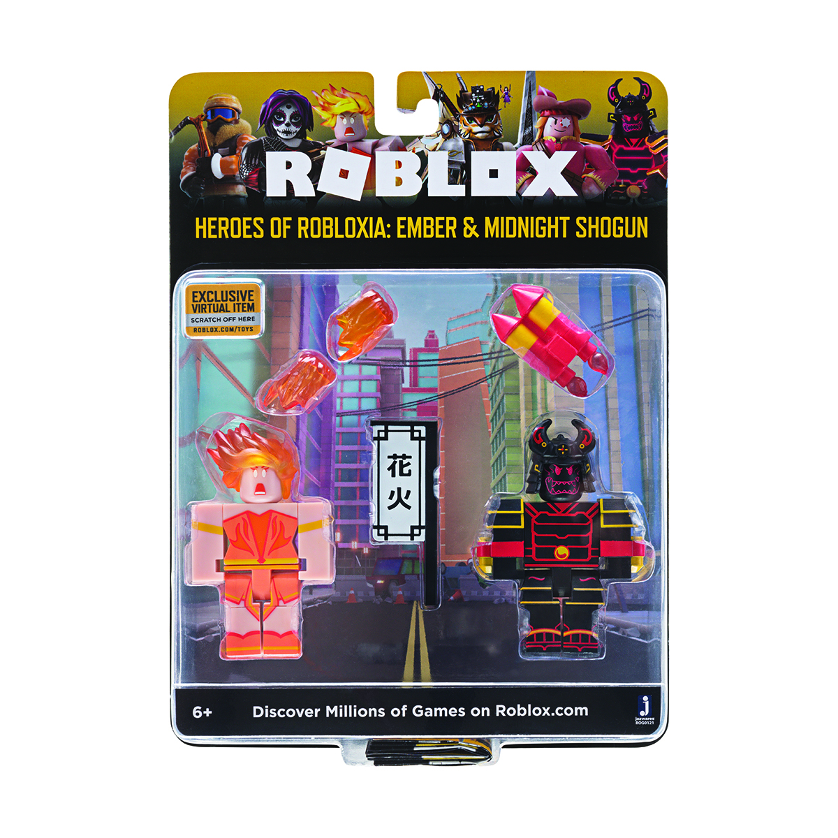 Set 2 figurine Roblox Celebrity Blistere, Ember si Midnight Shogun (ROG0121)