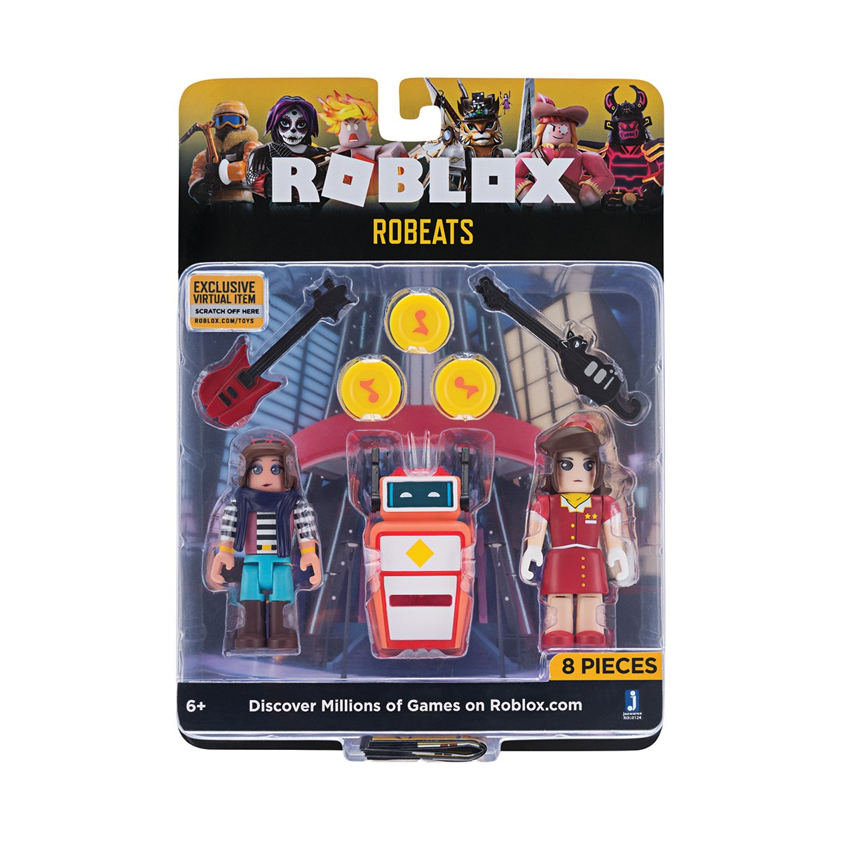 Set 2 figurine Roblox Celebrity Blistere, Robeats (ROG0124)