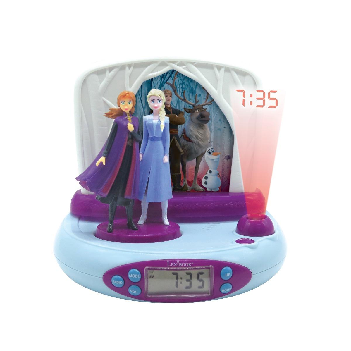 Ceas cu proiector Disney Frozen 2