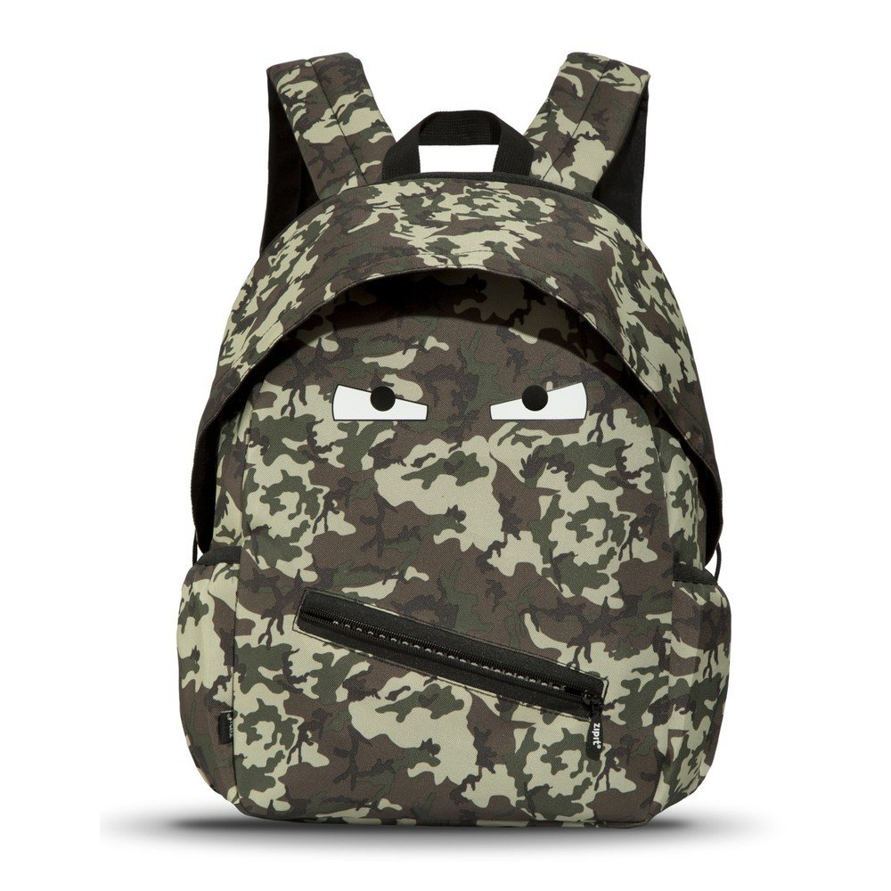 Rucsac gradinita Zipit Talking Monster Junior - camuflaj verde