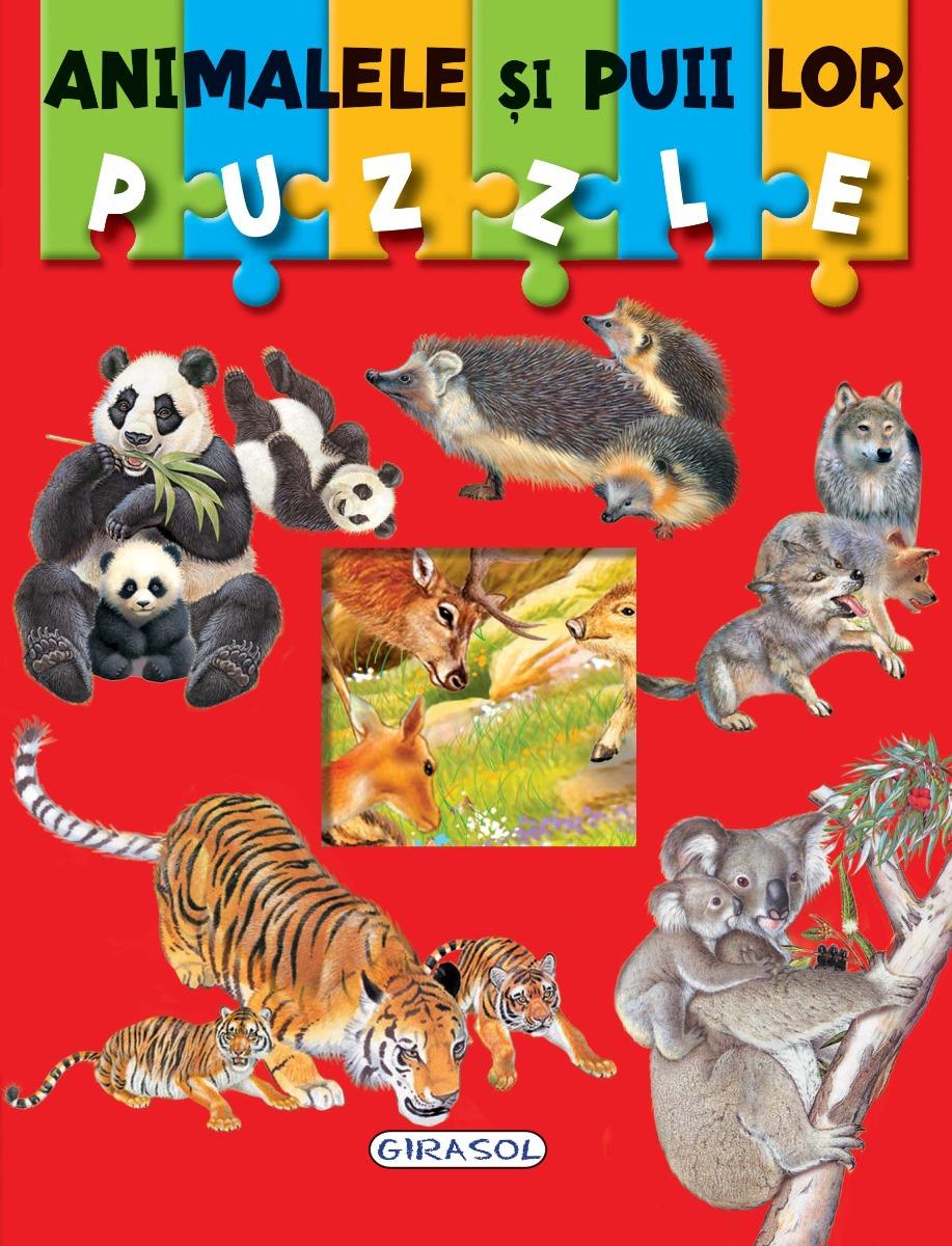 Carte Puzzle Girasol, Animalele si puii lor imagine 2021