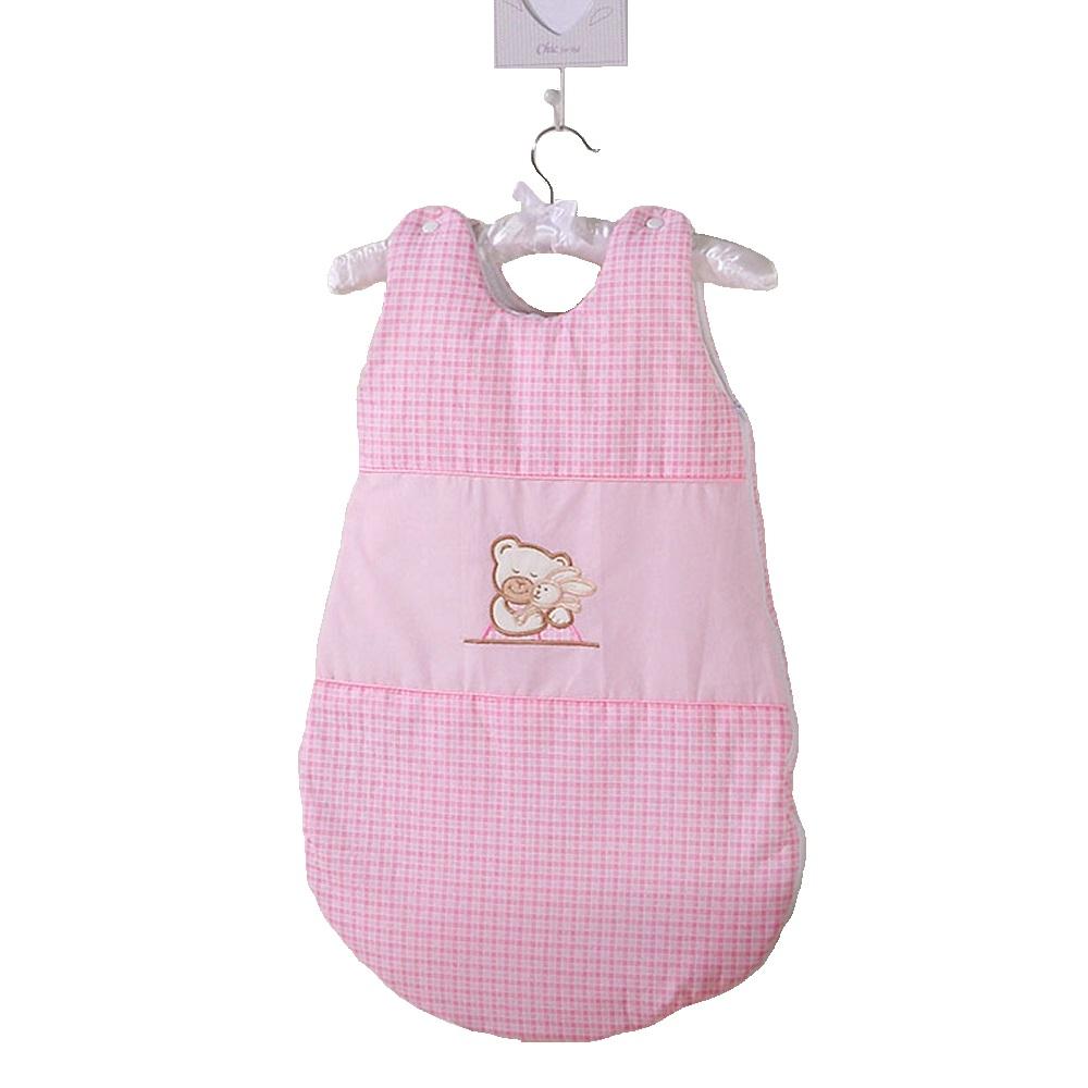 sac de dormit bebe mamo tato - ursulet si iepuras roz