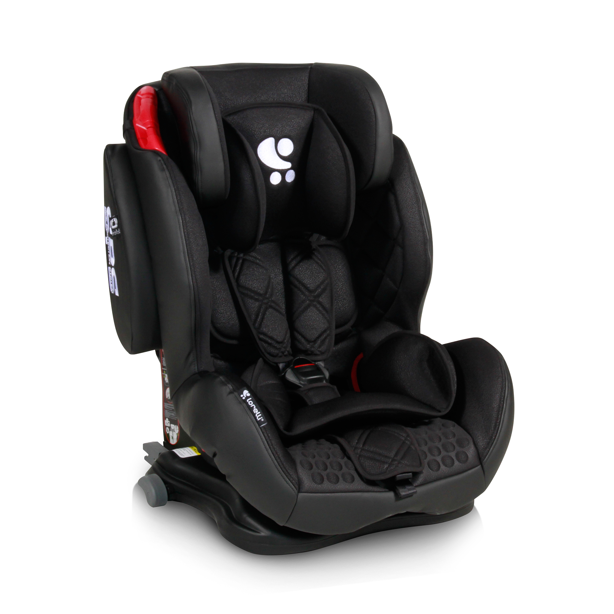 scaun auto copii lorelli premium titan +sps isofix - black leather