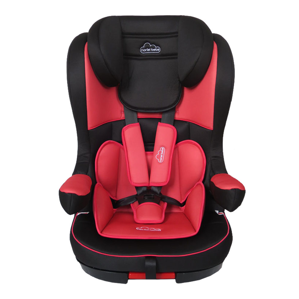 scaun auto copii noriel bebe hb isofix - rosu