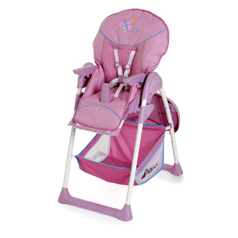 scaun masa bebe si sezlong hauck sit'n relax - butterfly pink