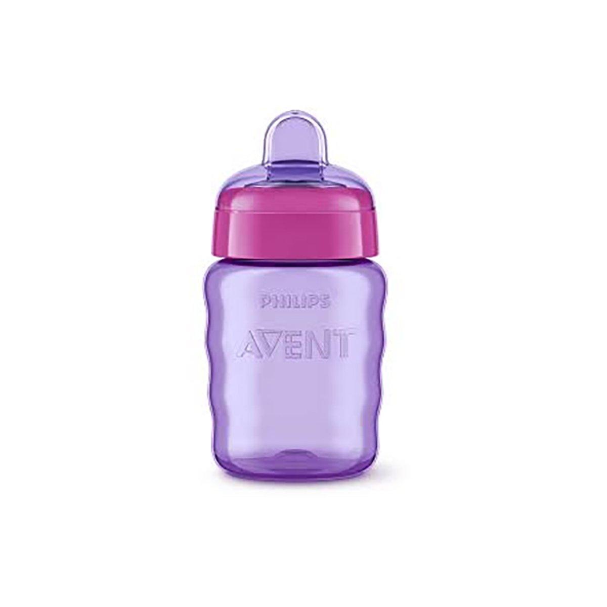 Cana bebe cu tetina de formare Philips Avent, 12 luni +, Mov imagine