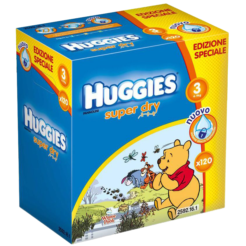scutece huggies super dry disney box 3,120 buc, 4 - 9 kg
