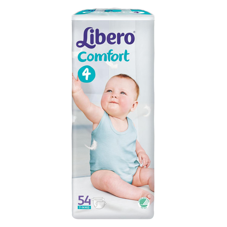 scutece libero comfort 4, 54 buc, 7 - 14 kg