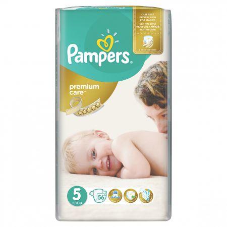 Scutece Pampers Premium Care 5 Junior, 56 Buc, 11 - 18 Kg