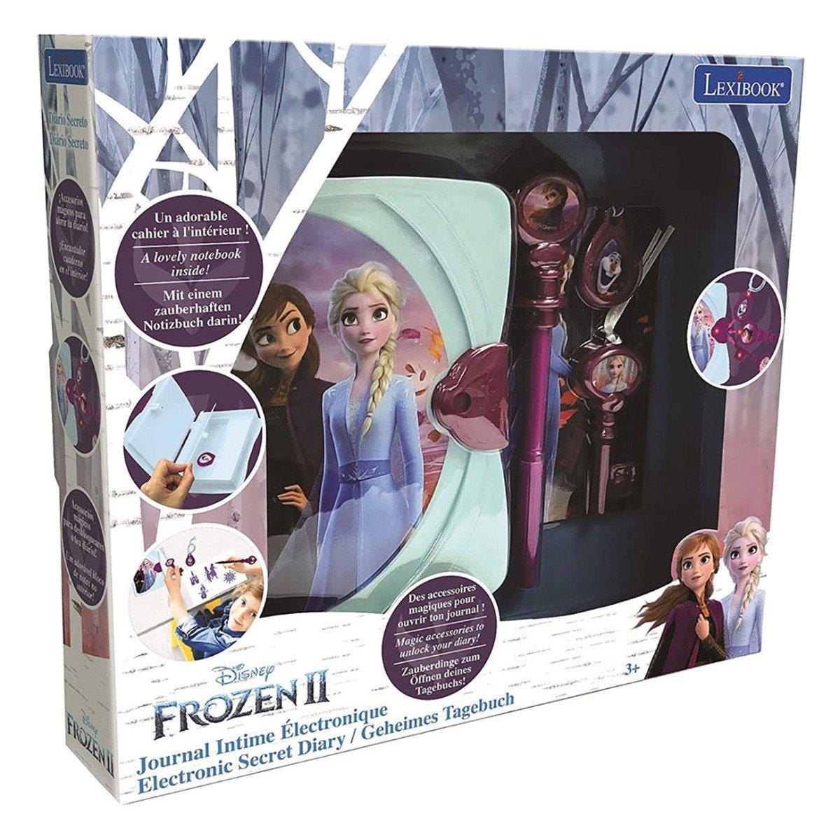 Jurnal electronic cu lumini si sunete Lexibook Disney Frozen 2