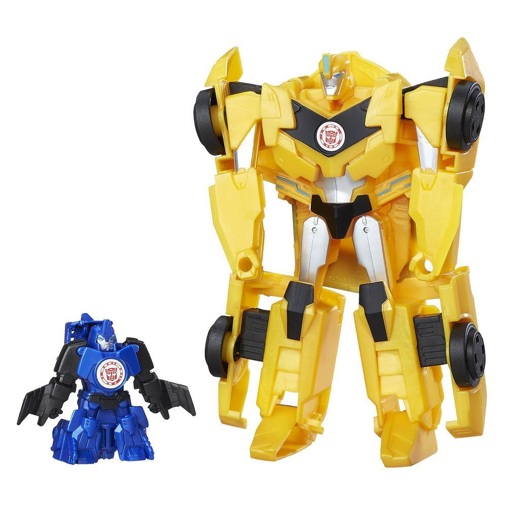 set 2 figurine transformers combiner force - bumblebee si stuntwing