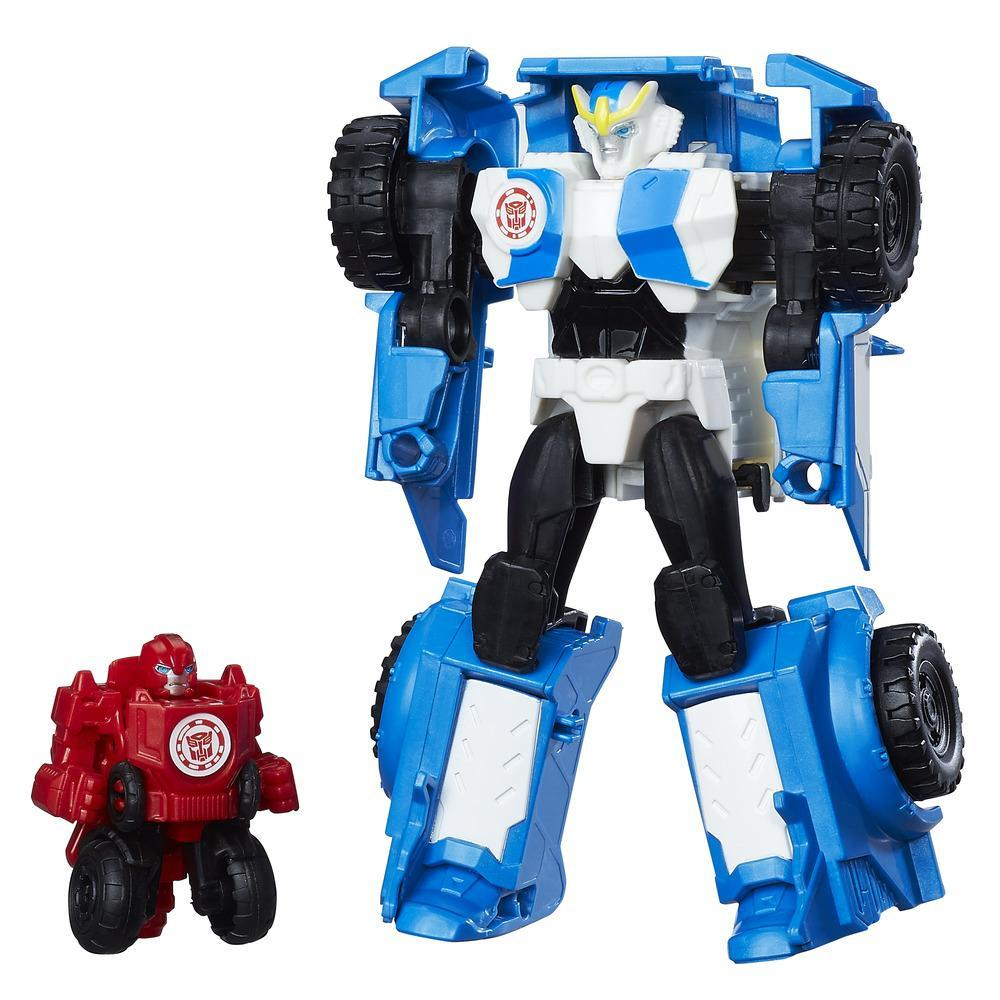set 2 figurine transformers combiner force - strongarm si trickout