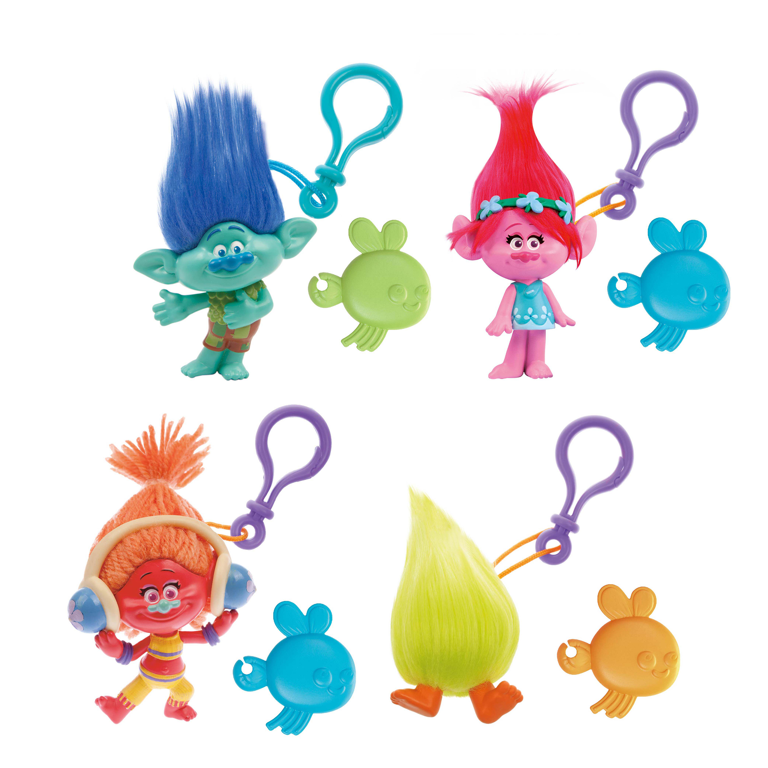 set 4 brelocuri - figurina trolls, 10 cm
