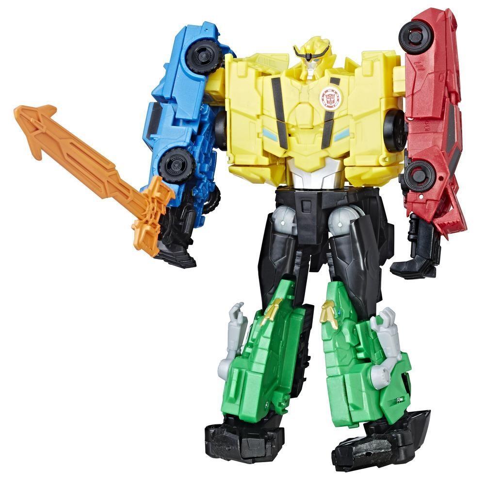 set 4 figurine transformers combiner force team - combiner ultra bee