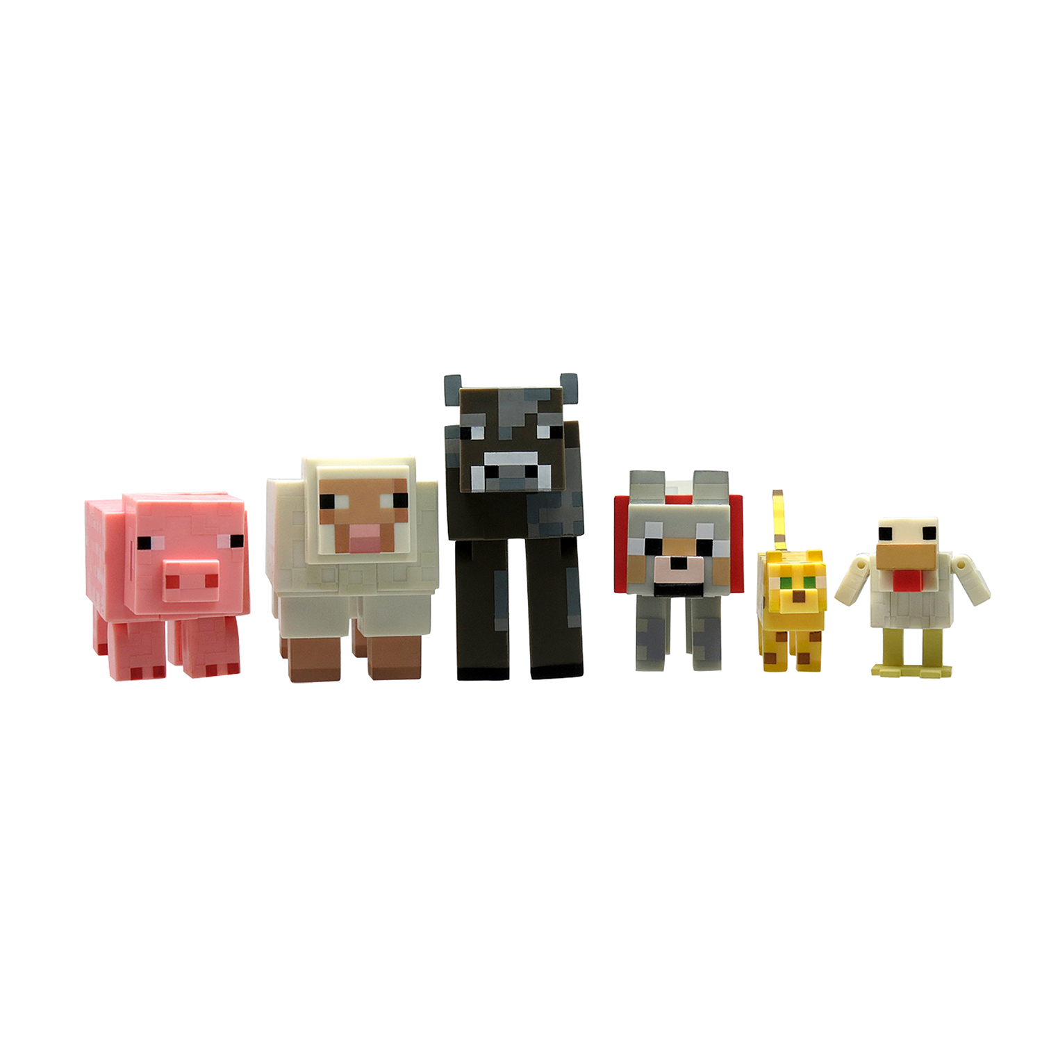 set 6 figurine minecraft, seria 2 - animale