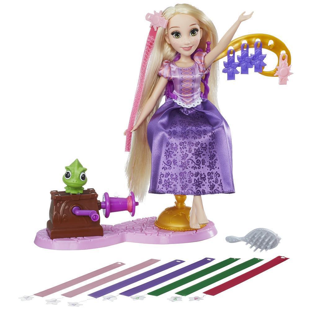 set accesorii si papusa disney princess - salonul panglicilor regale al lui rapunzel