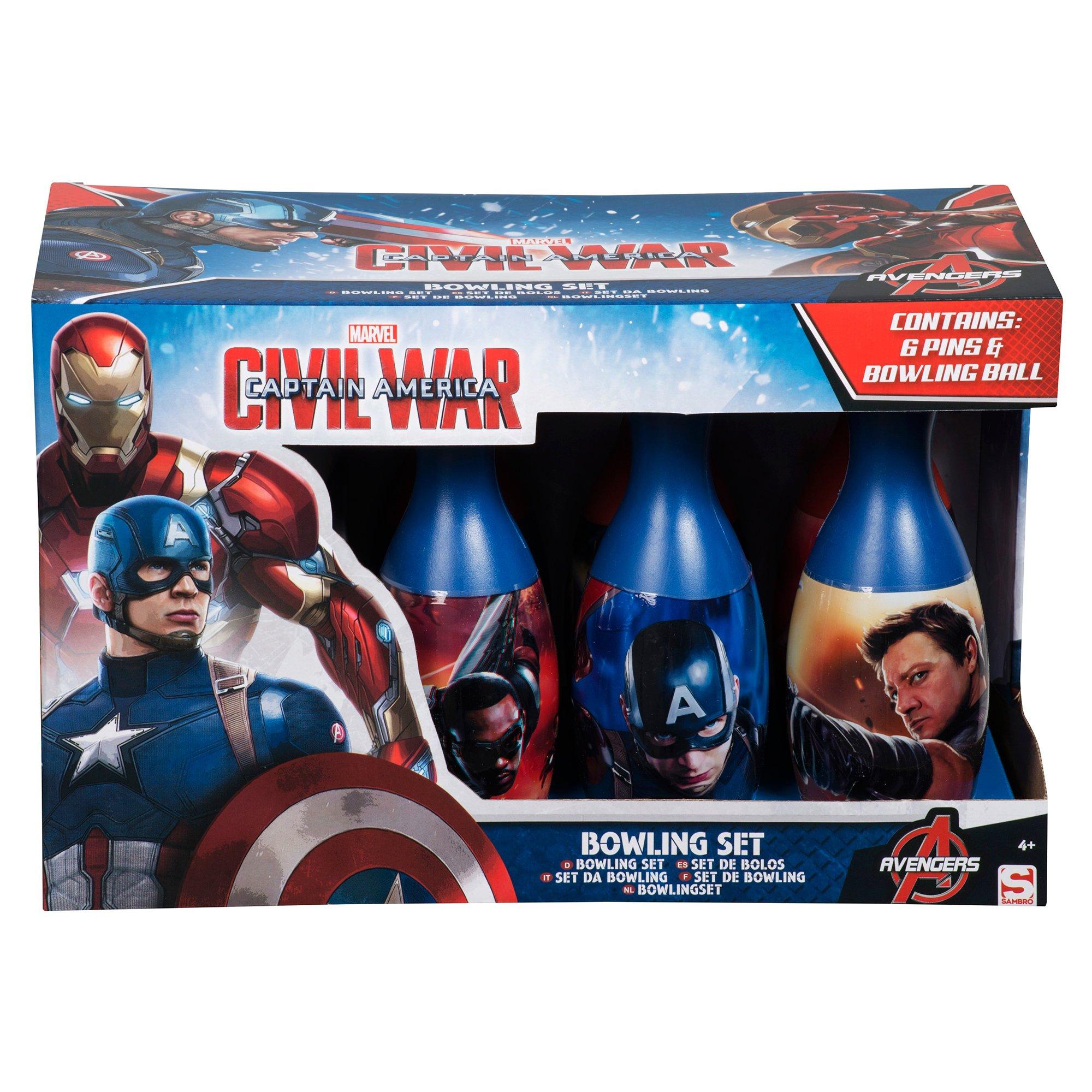 set bowling - civil war, captain america