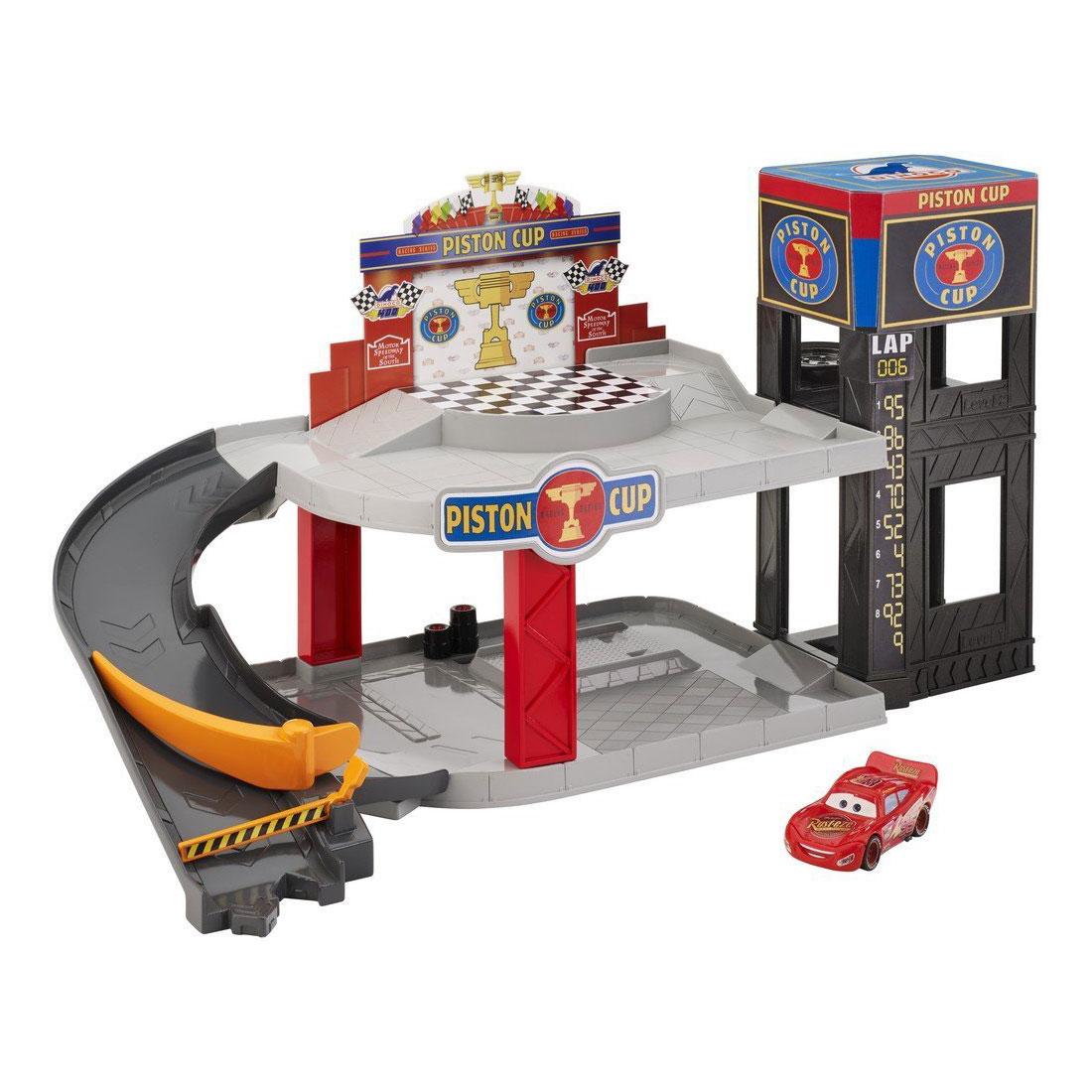 set cars - piston cup racing garage