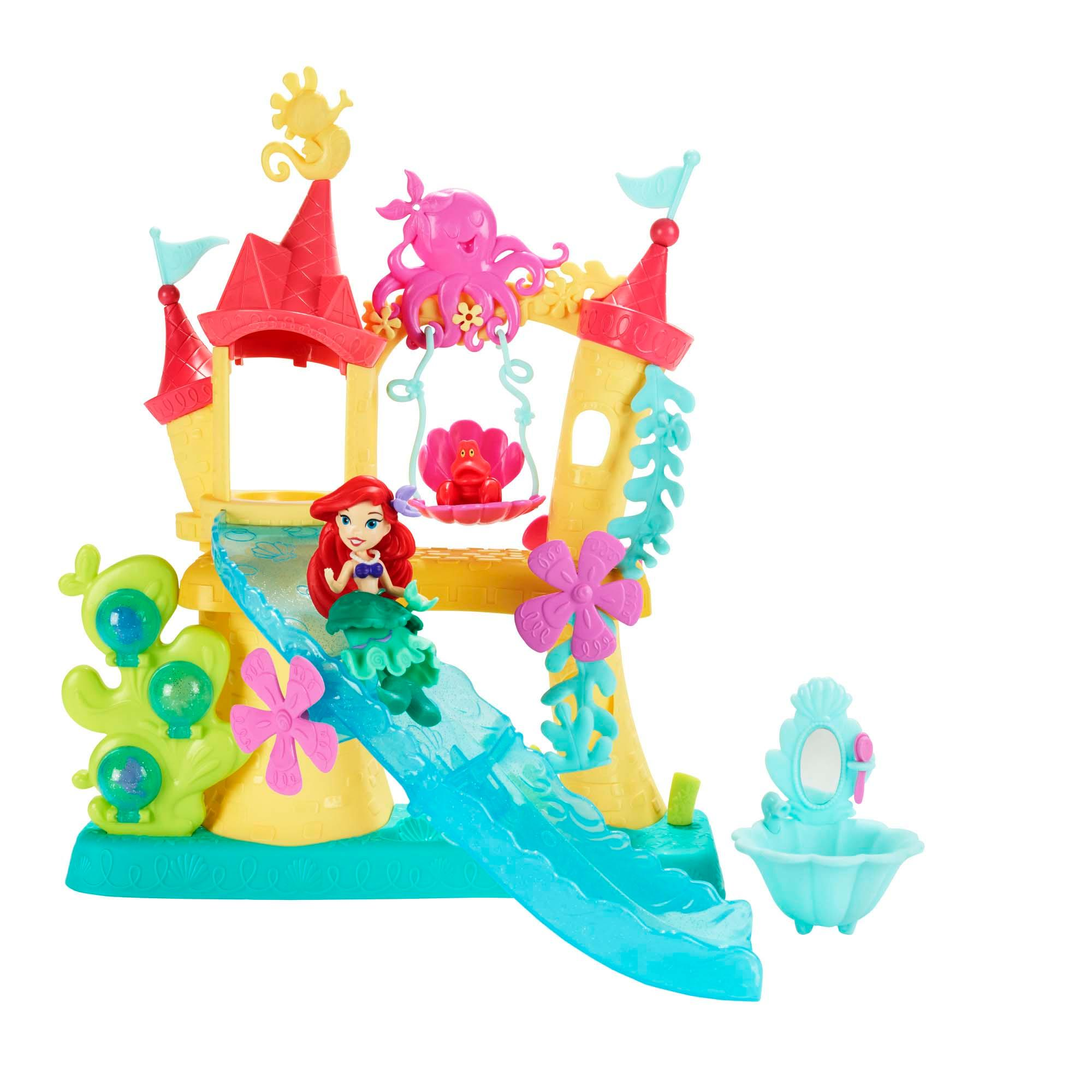 set cu figurina disney princess little kingdom - castelul lui ariel