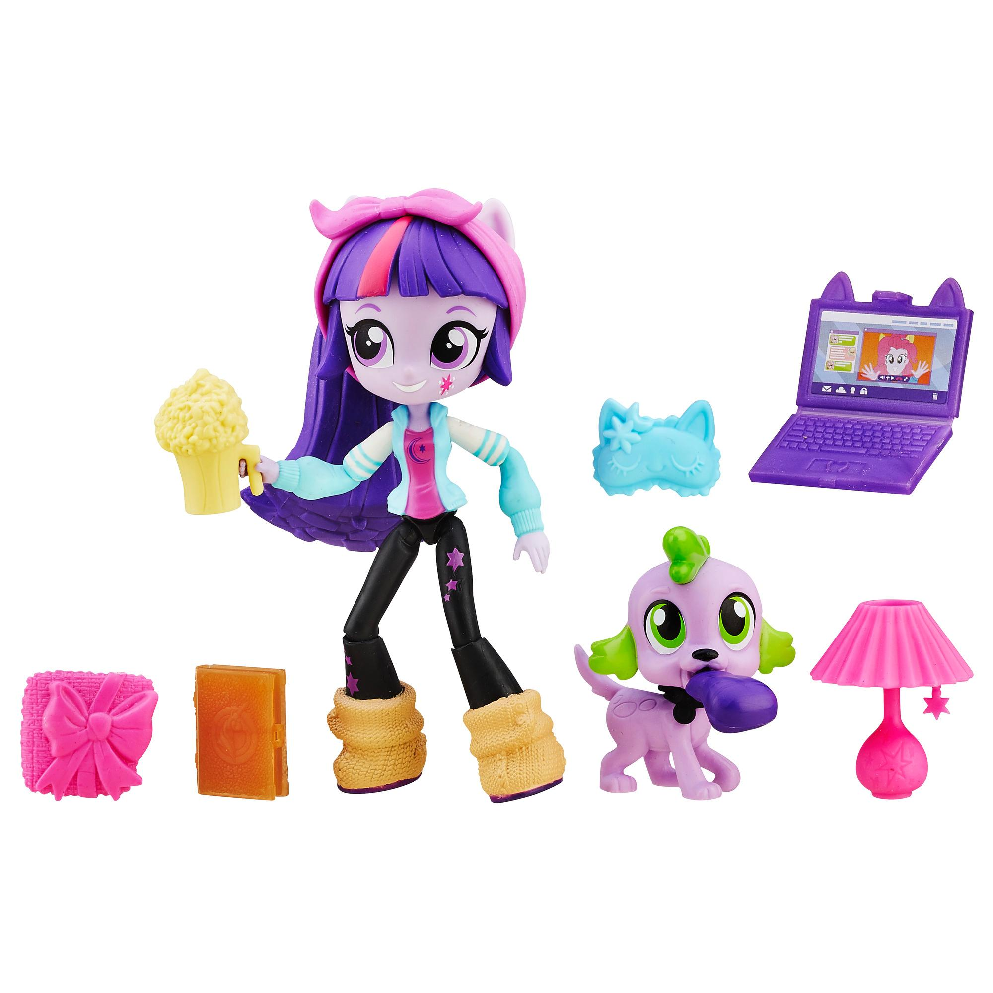 set cu figurina my little pony equestria girls minis - twilight sparkle