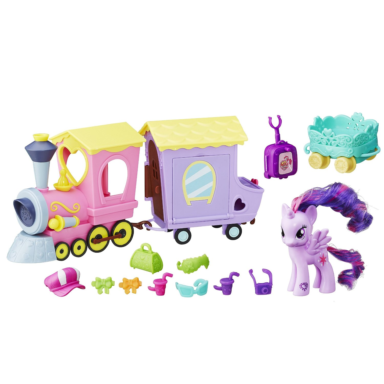 set cu figurina my little pony friendship is magic - tren expresul prieteniei