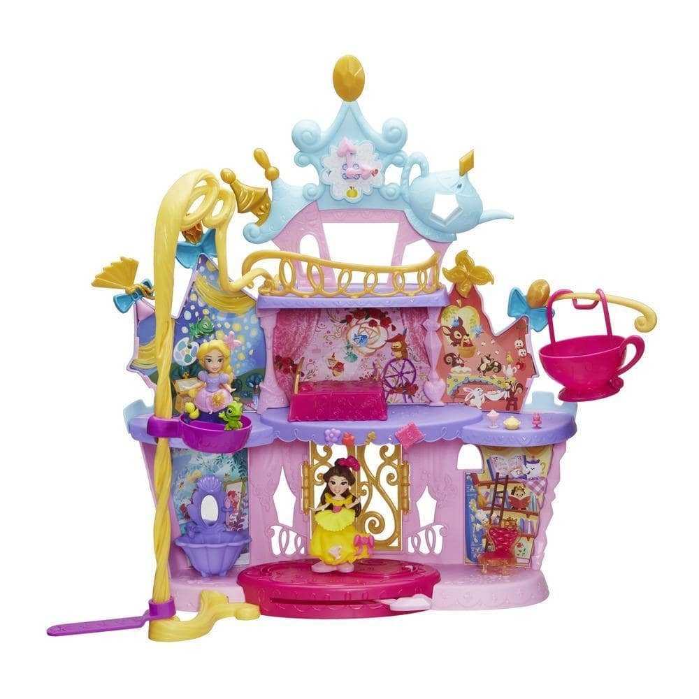 set cu figurine disney princess little kingdom - castelul muzical