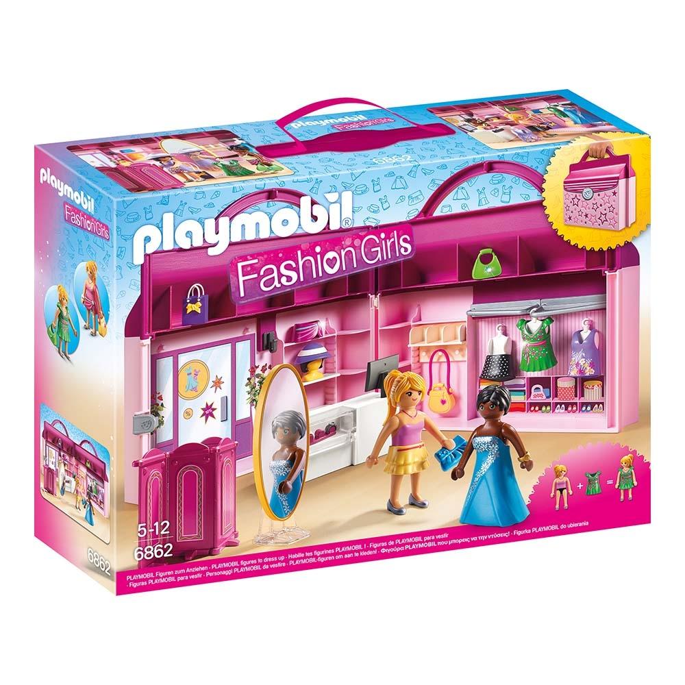 Set De Constructie Portabil Playmobil City Life - Butic Cu Haine (6862)