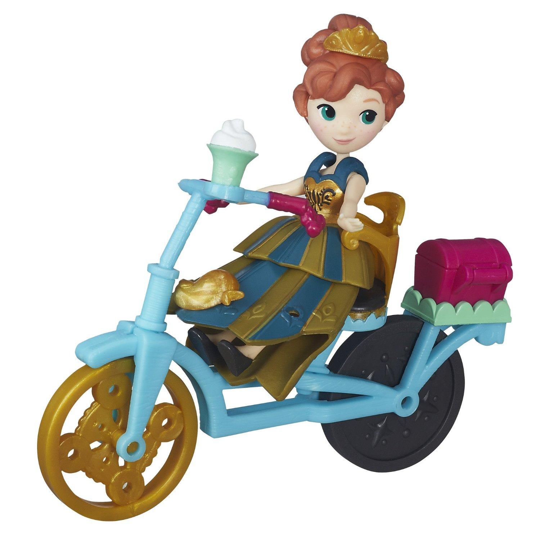 Set Disney Frozen - Figurina Anna si bicicleta