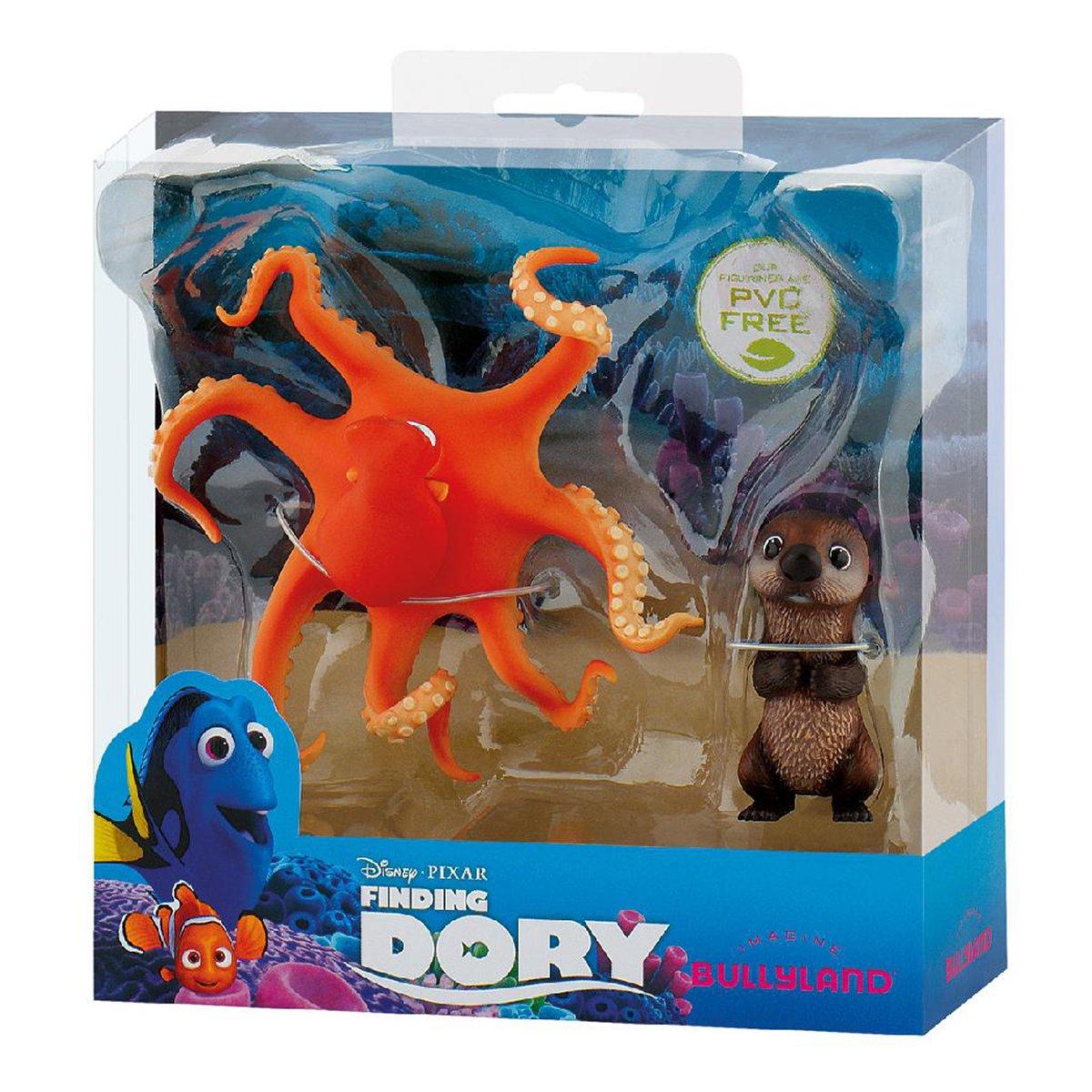 set doua figurine finding dory - hank & otter