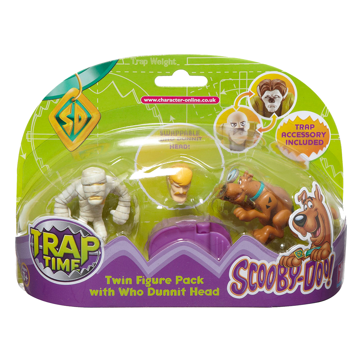 set doua figurine scooby-doo - trap time