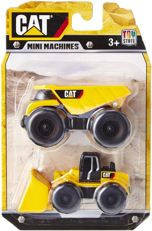 set doua vehicule toy state cat mini machines