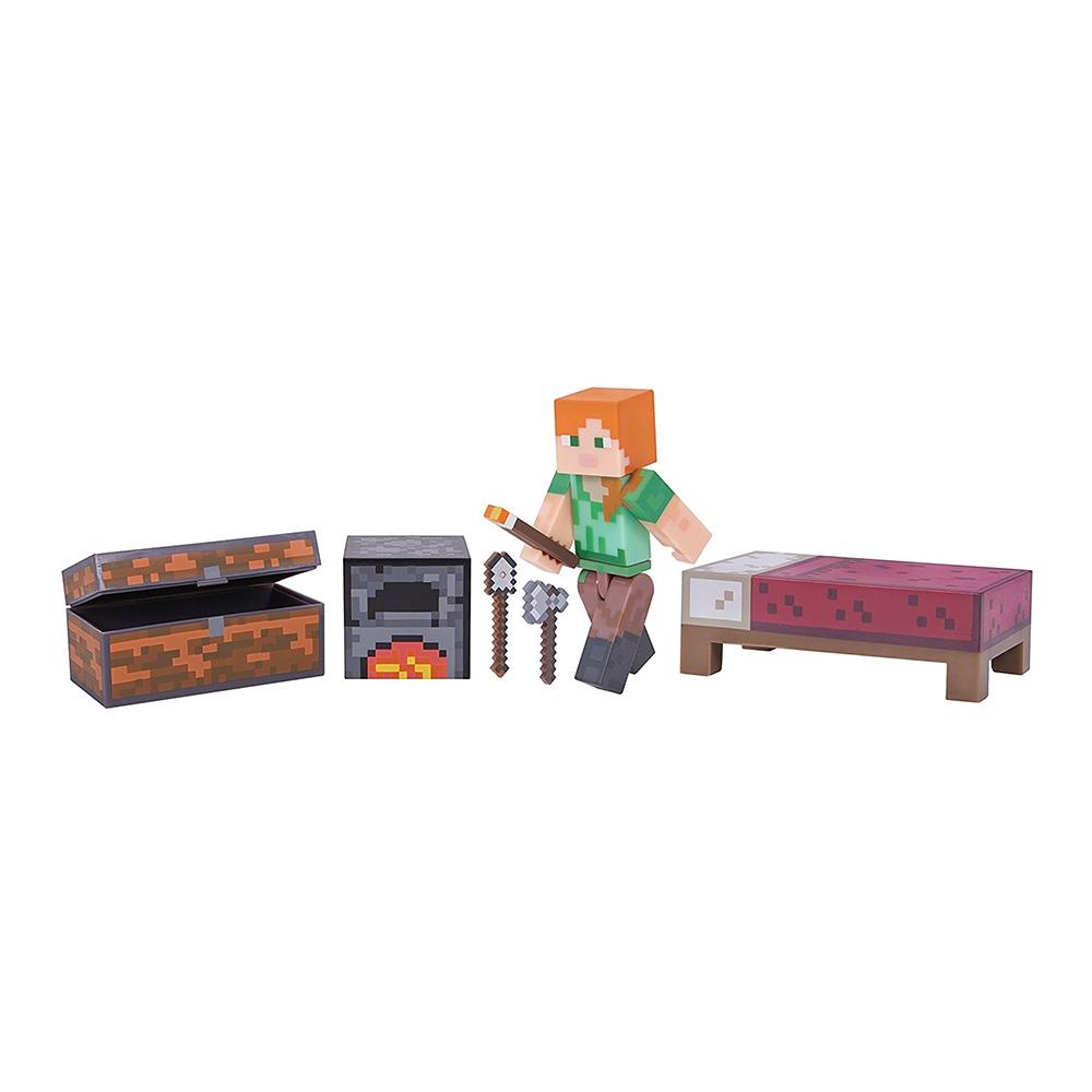 set figurina minecraft - alex survival