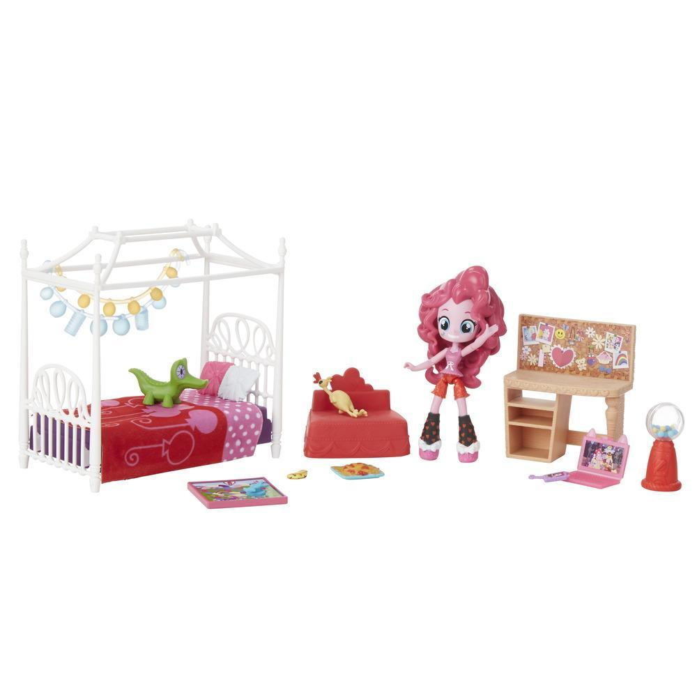 set figurina my little pony equestria girls minis - petrecerea in pijamale a lui pinkie pie