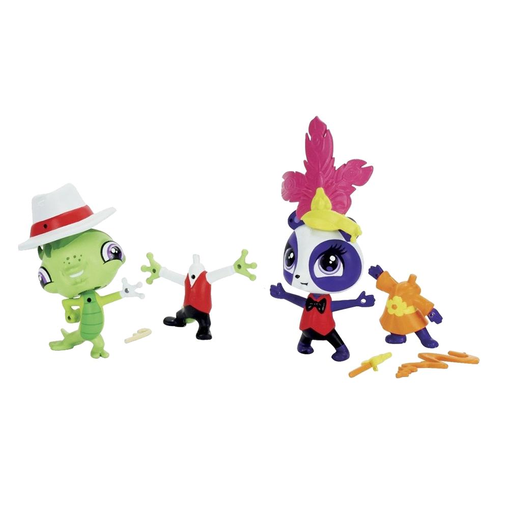 set figurine littlest pet shop - penny ling si vinnie terrio