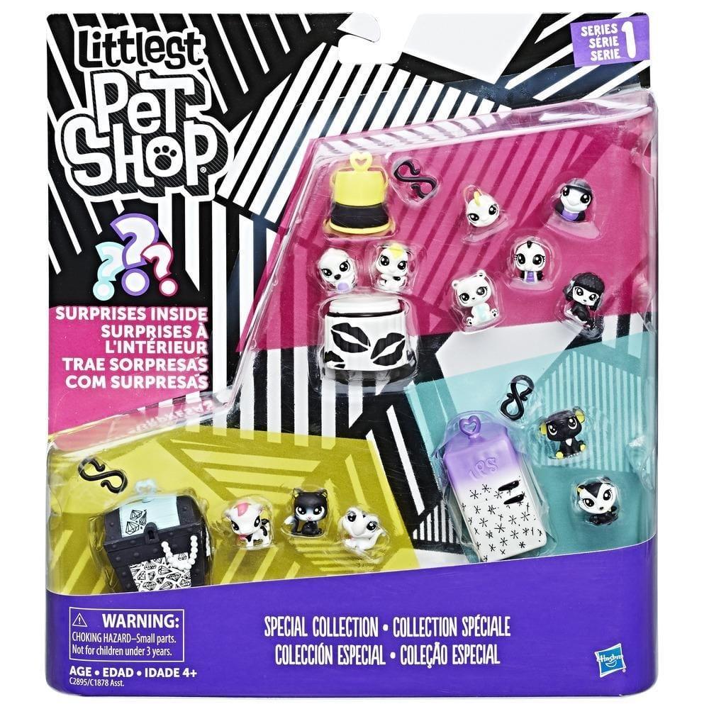 set figurine littlest pet shop seria 1 - colectia speciala cu surpriza, mov