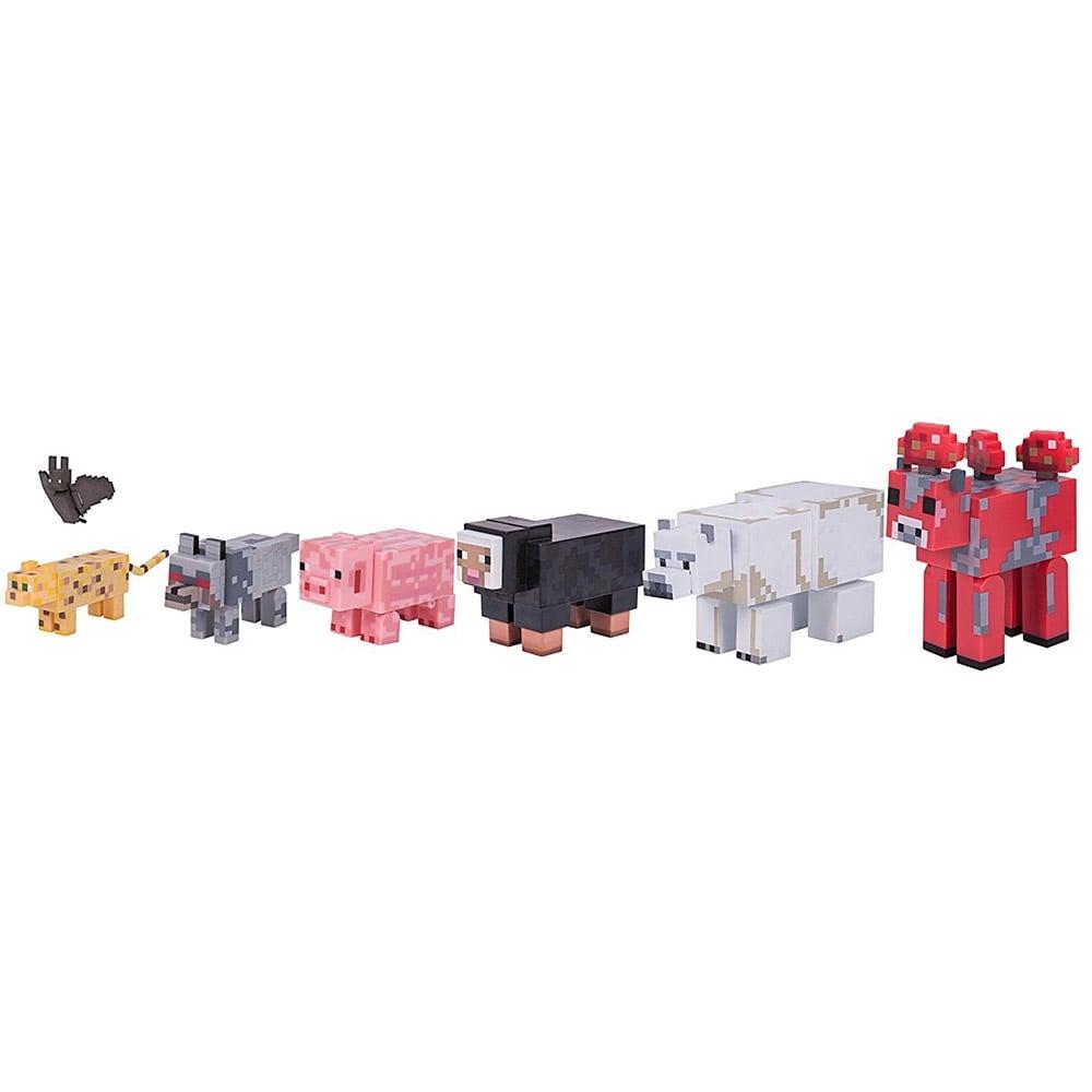 set figurine minecraft - animale salbatice (7 piese)