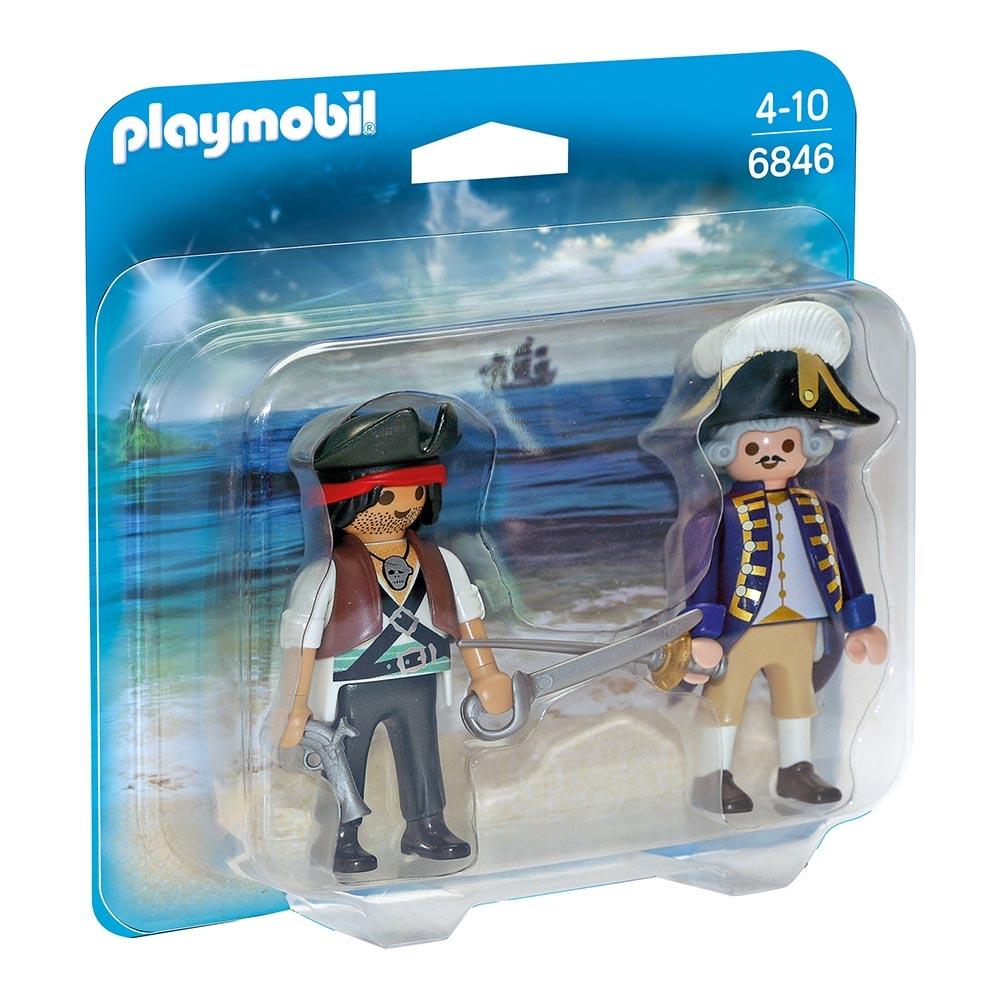 set figurine playmobil pirates - pirat si soldat (6846)
