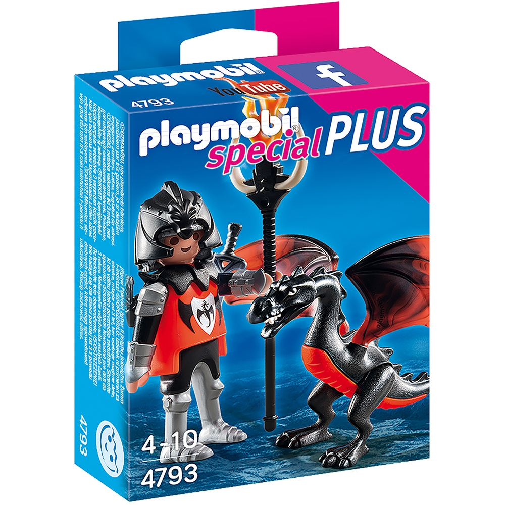 set figurine playmobil special plus - cavaler cu dragon (4793)
