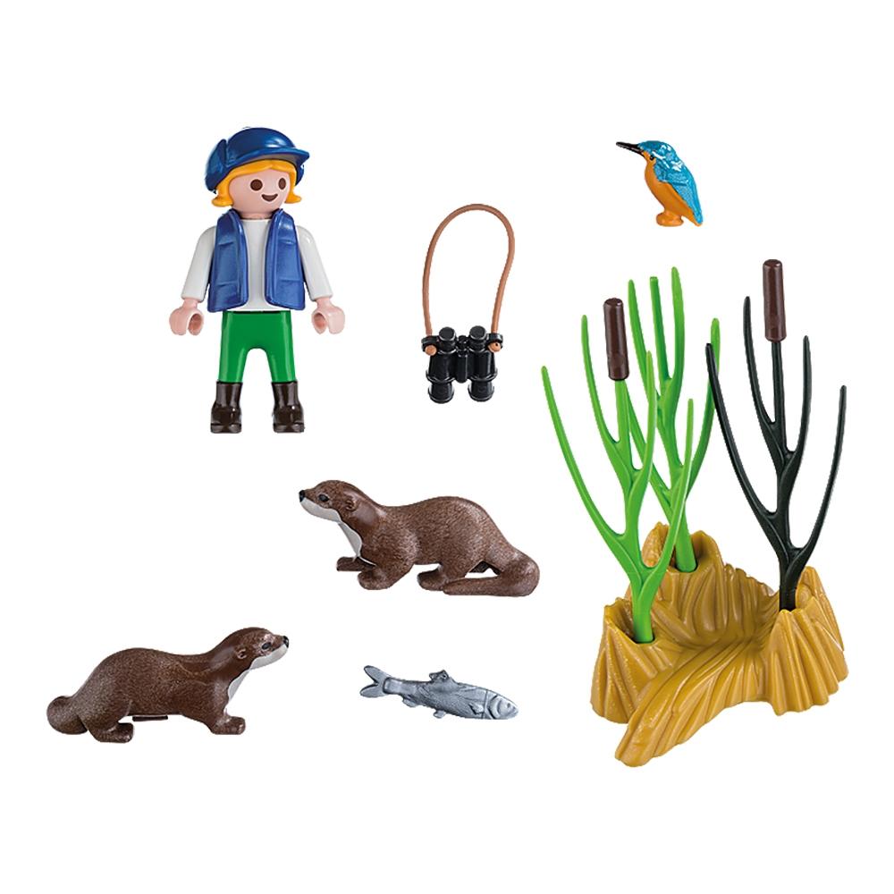 set figurine playmobil special plus - tanara exploratoare cu vidre (5376)