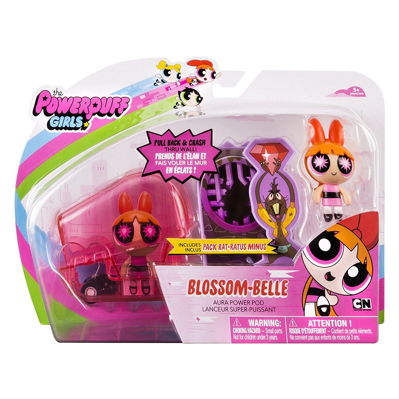 set figurine powerpuff girls aura power pods - blossom