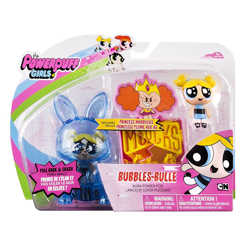 set figurine powerpuff girls aura power pods - bubbles