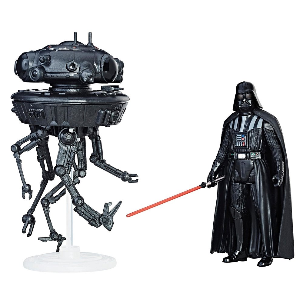 set figurine star wars force link - imperial probe droid & darth vader