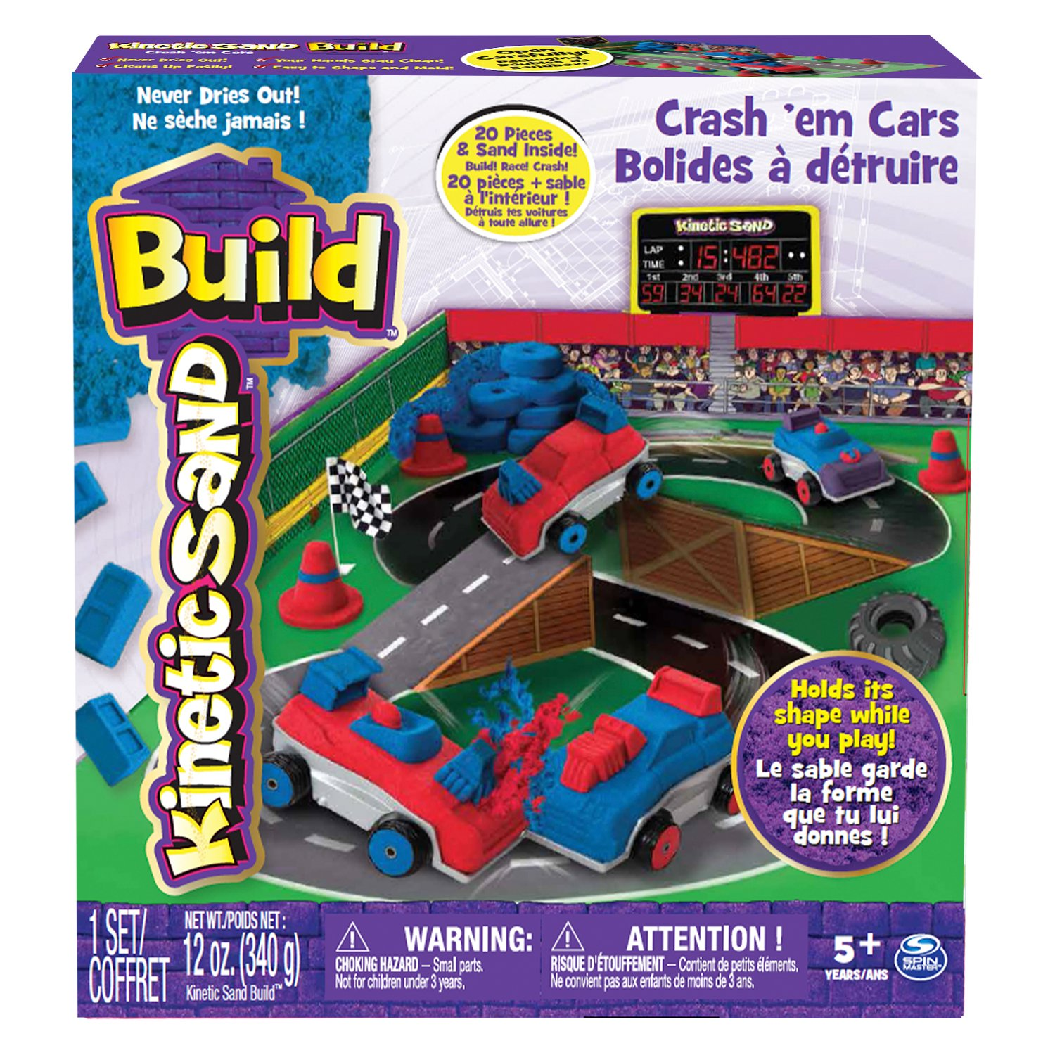 Set Kinetic Sand Crash 'em Cars