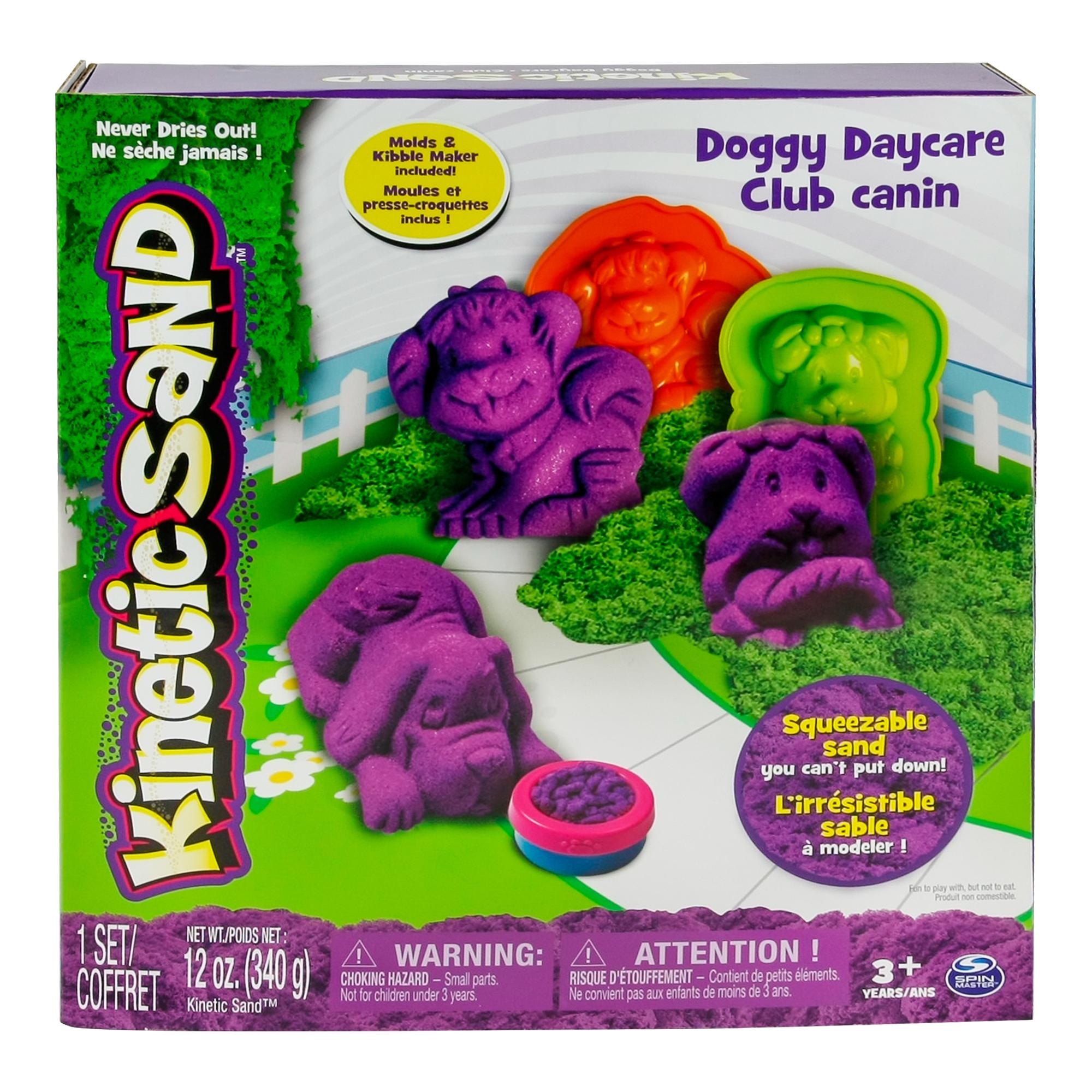 set kinetic sand cutia cu nisip catel / dinozaur