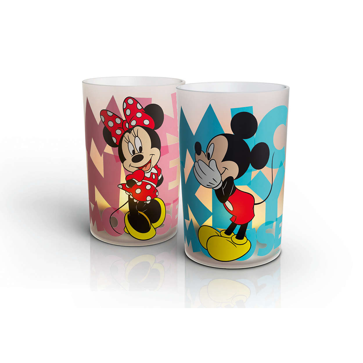 set lampa de masa philips, mickey & minnie mouse