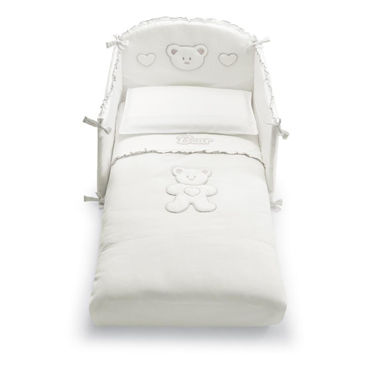 set lenjerie de pat copii pali 4 piese loving bear