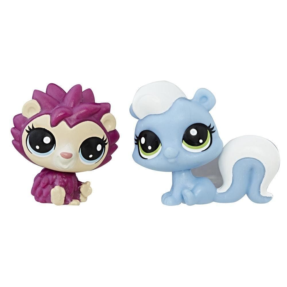 set minifigurine littlest pet shop seria 1 - hildy ariciul & alina sconcsul