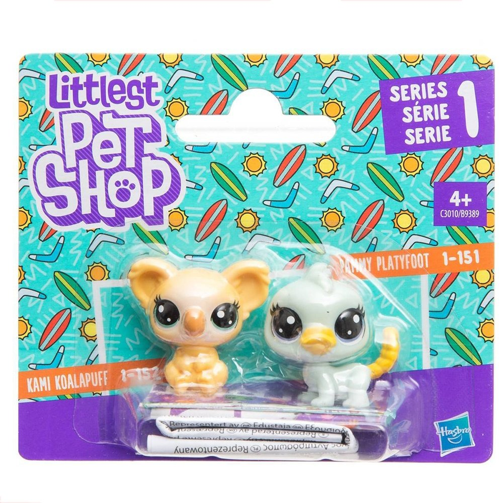 set minifigurine littlest pet shop seria 1 - latypus and koala